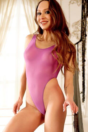 Sexy see through one piece thong swimsuit. Hot sheer when wet rave bodysuit. High cut leg women swimwear monokini. Cute cheeky bathing suit.
