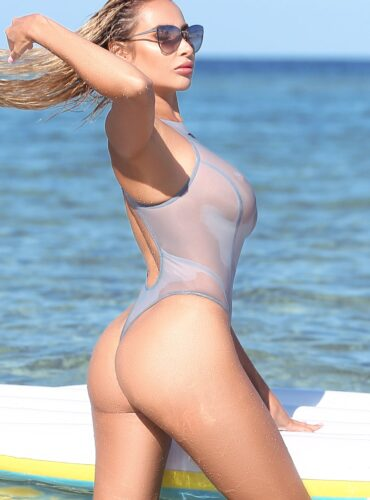 Sexy cute see through one piece swimsuit. High cut leg hot sheer thong bodysuit women. Cheeky extreme monokini. High neck designer swimwear.
