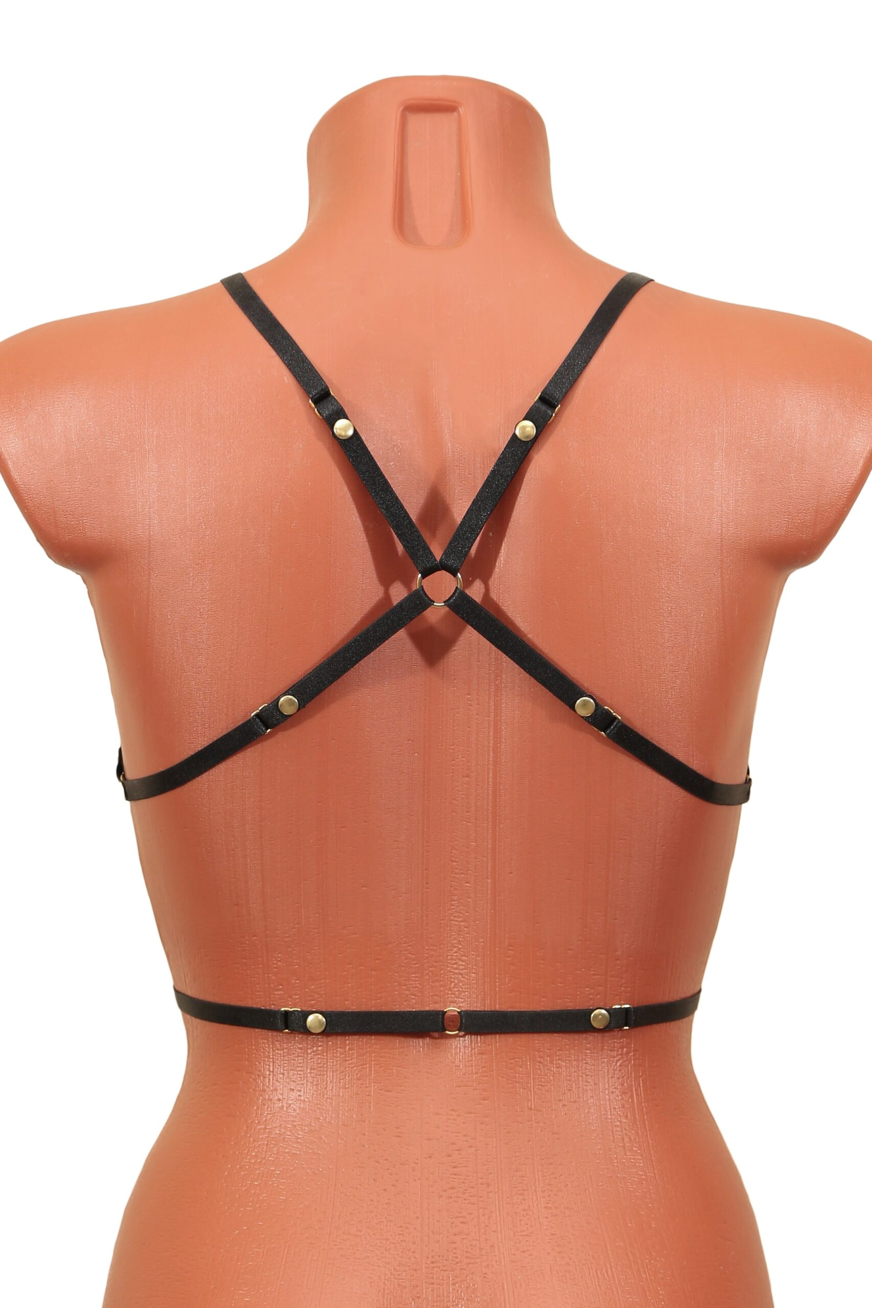 Cheeky erotic open thong harness panties and top. Sexy sheer kinky crotchless lingerie set. Hot micro bikini. BDSM collar. Stripper outfits.