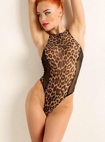 Sexy see through black leopard bodysuit. Hot sheer when wet rave thong swimsuit. Cute high cut leg mesh monokini. Womens extreme swimwear.