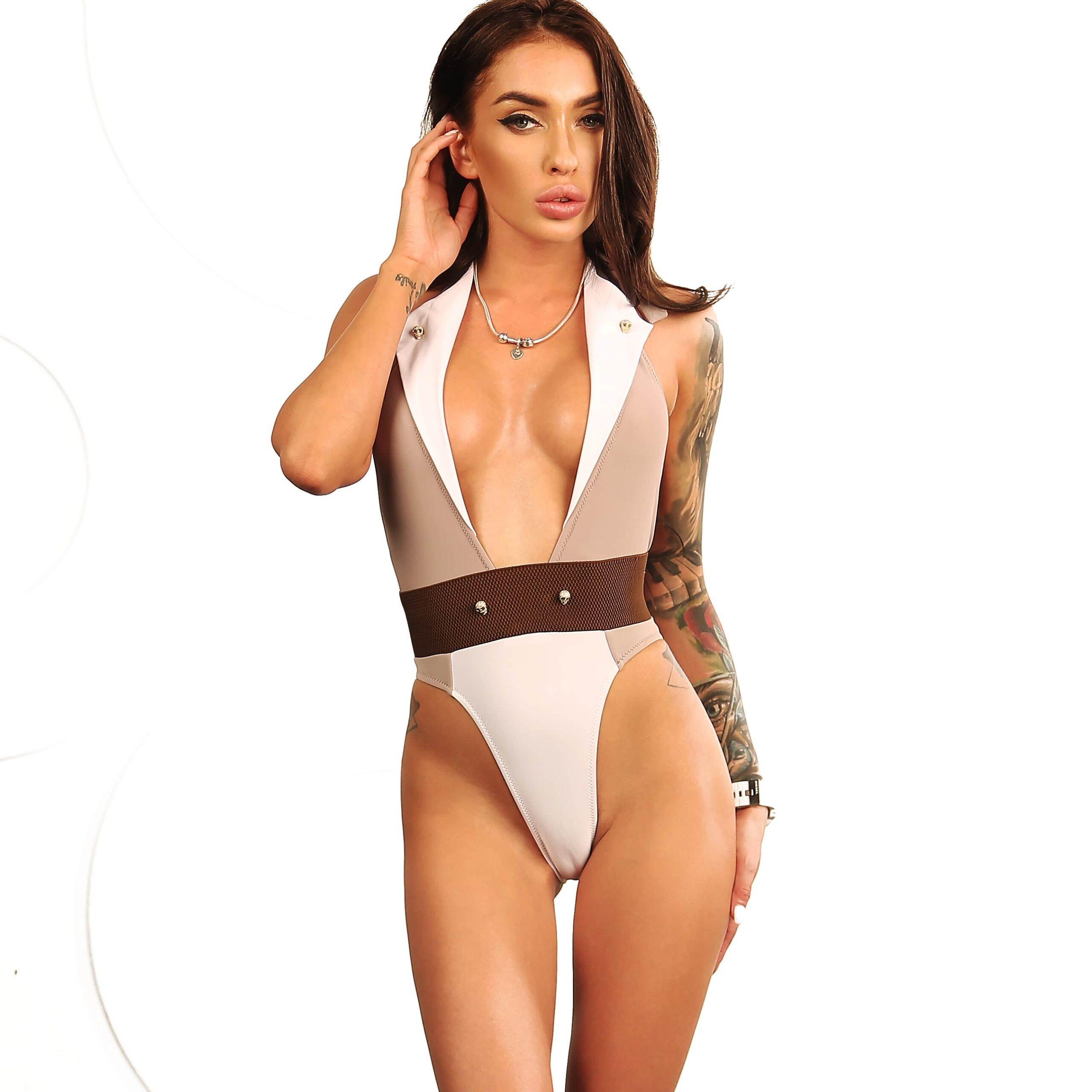 Sexy women one piece swimsuit brazilian. Hot cute high cut leg rave bodysuit. Extreme fashion vintage designer women swimwear monokini.