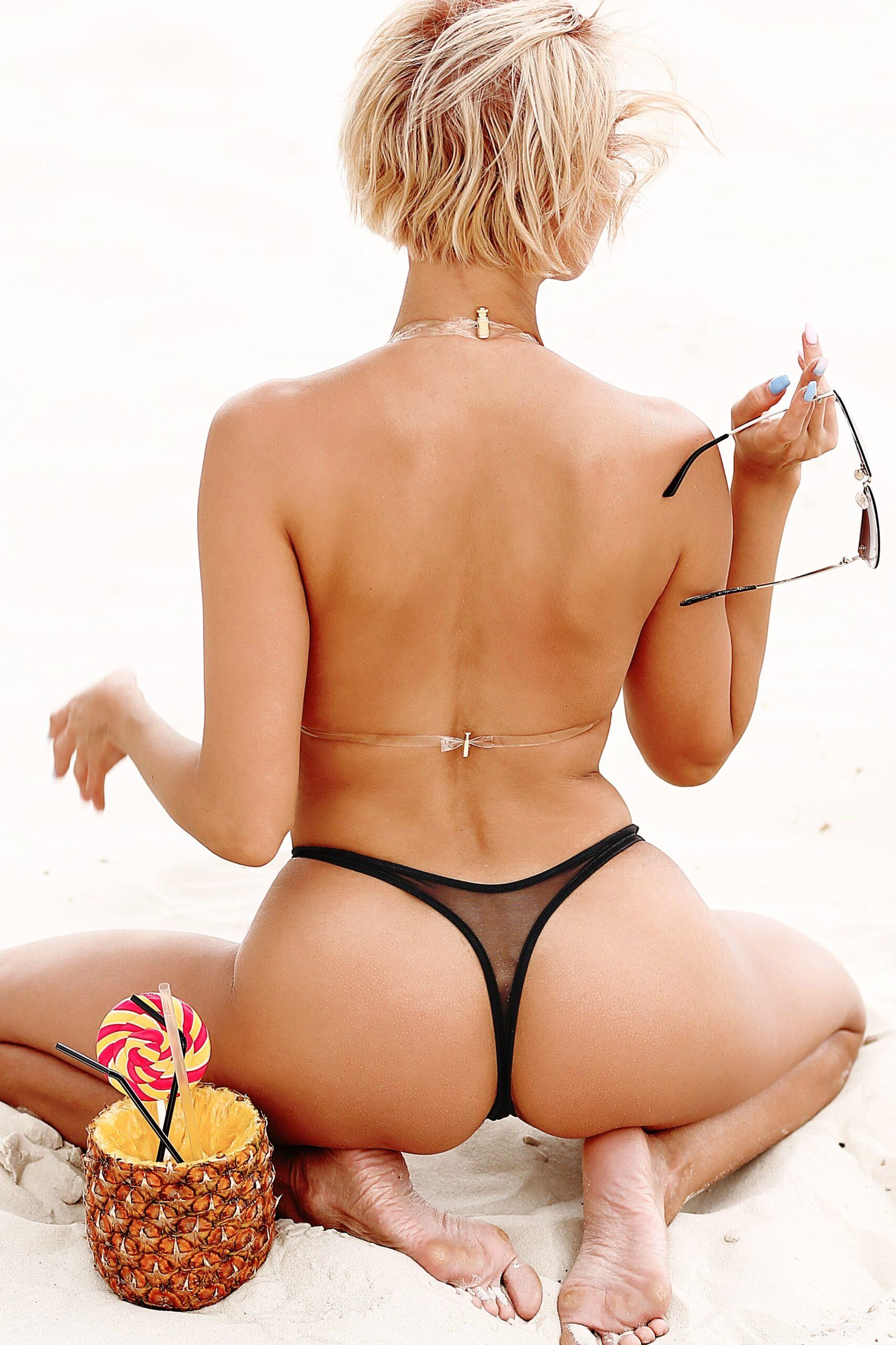 Sheer extreme hot micro thong bikini set. See through lingerie bottom. Sexy cheeky mini high cut leg white swimsuit. Cute string panties.