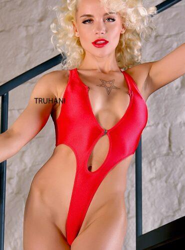 Sexy hot neon one piece thong swimsuit. Extreme high cut leg rave bodysuit monokini. Cheeky exotic uncut swimwear. Cute women bathing suits.