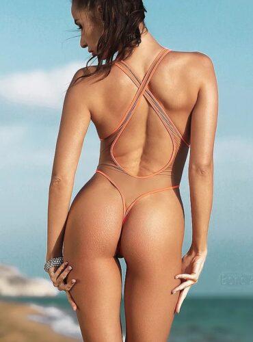 Sexy see through one piece swimsuit thong. Hot sheer mesh bodysuit. Cheeky high cut leg women swimwear monokini. Erotic lingerie underwear.