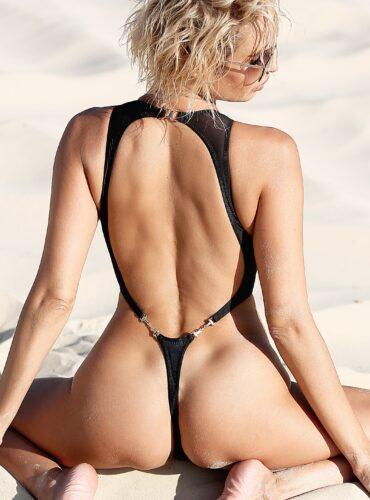 Sexy see through lingerie. Sheer swimsuit. Erotic one piece thong bathing suit. High cut leg black bodysuit. Cute high neck mesh monokini.