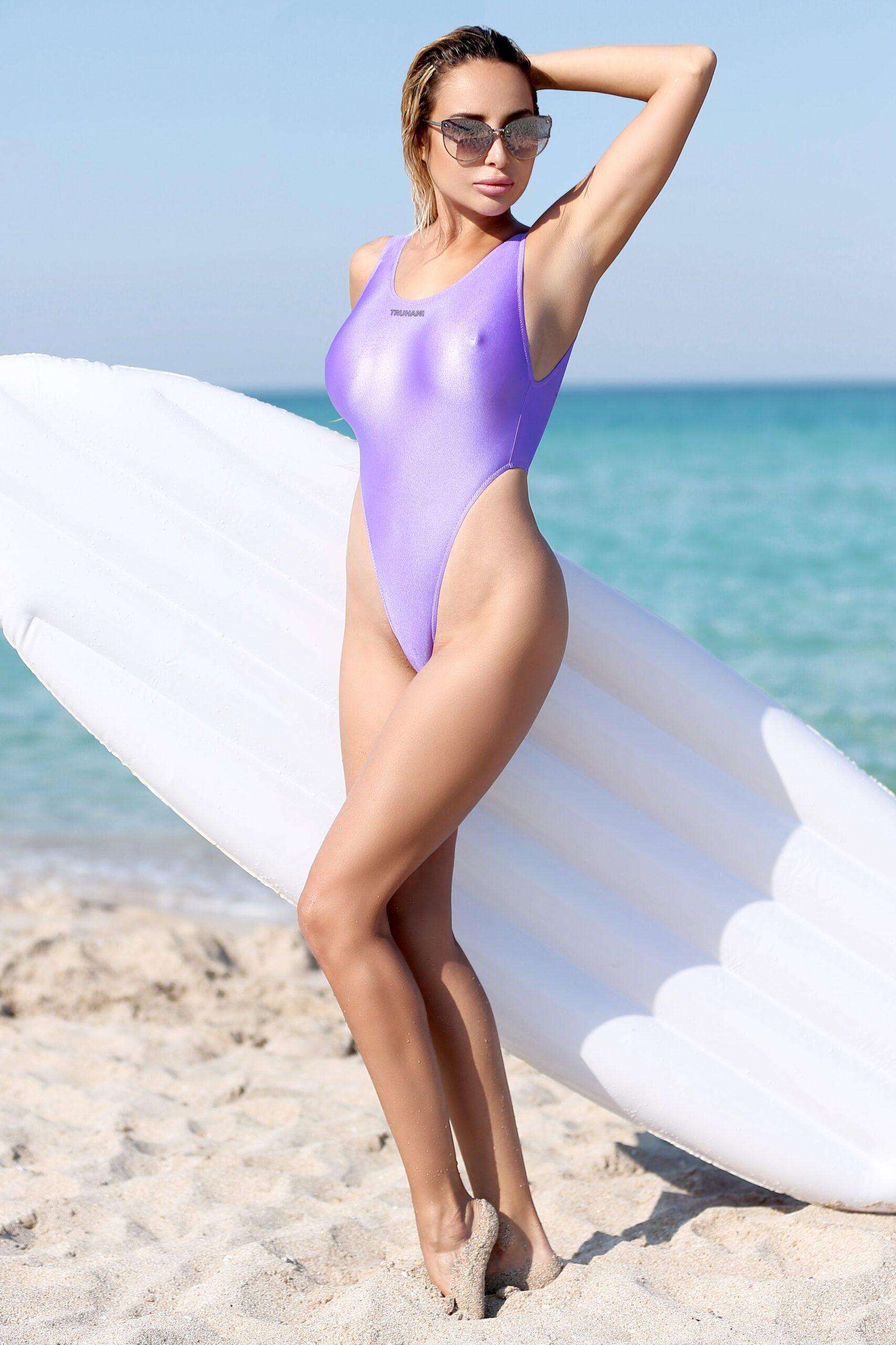 Sexy see through thong one piece swimsuit monokini. Extreme cheeky sheer when wet high cut leg bodysuit. Cute hot women designer swimwear.