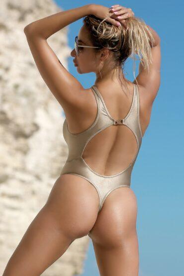 Hot see through one piece thong swimsuit Cheeky sheer women high neck bodysuit Sexy high cut leg monokini Cute bathing suits