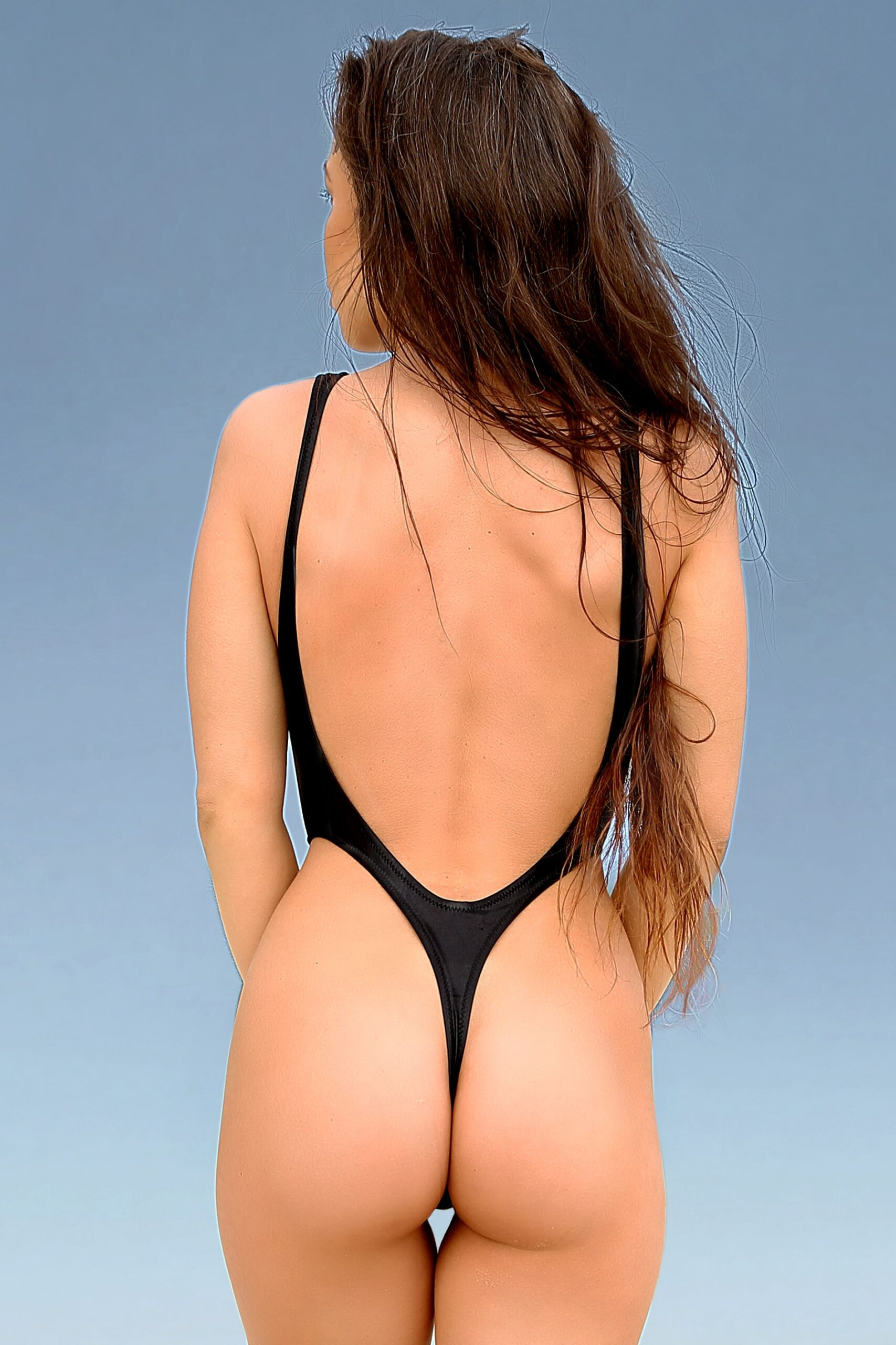 Cheeky high cut leg one piece swimsuit Hot sexy thong Extreme erotic monokini Womens designer summer outfits Black bodysuit